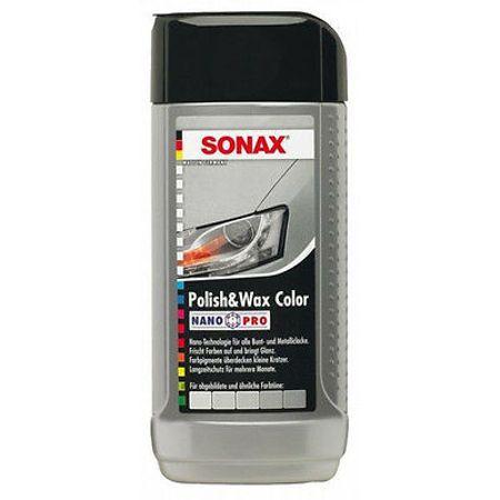 SONAX POLISH WAX COLOR NANO PRO SILVER/GREY 250 ML - Cera Prata/Cinza  - Loja Go Eco Wash
