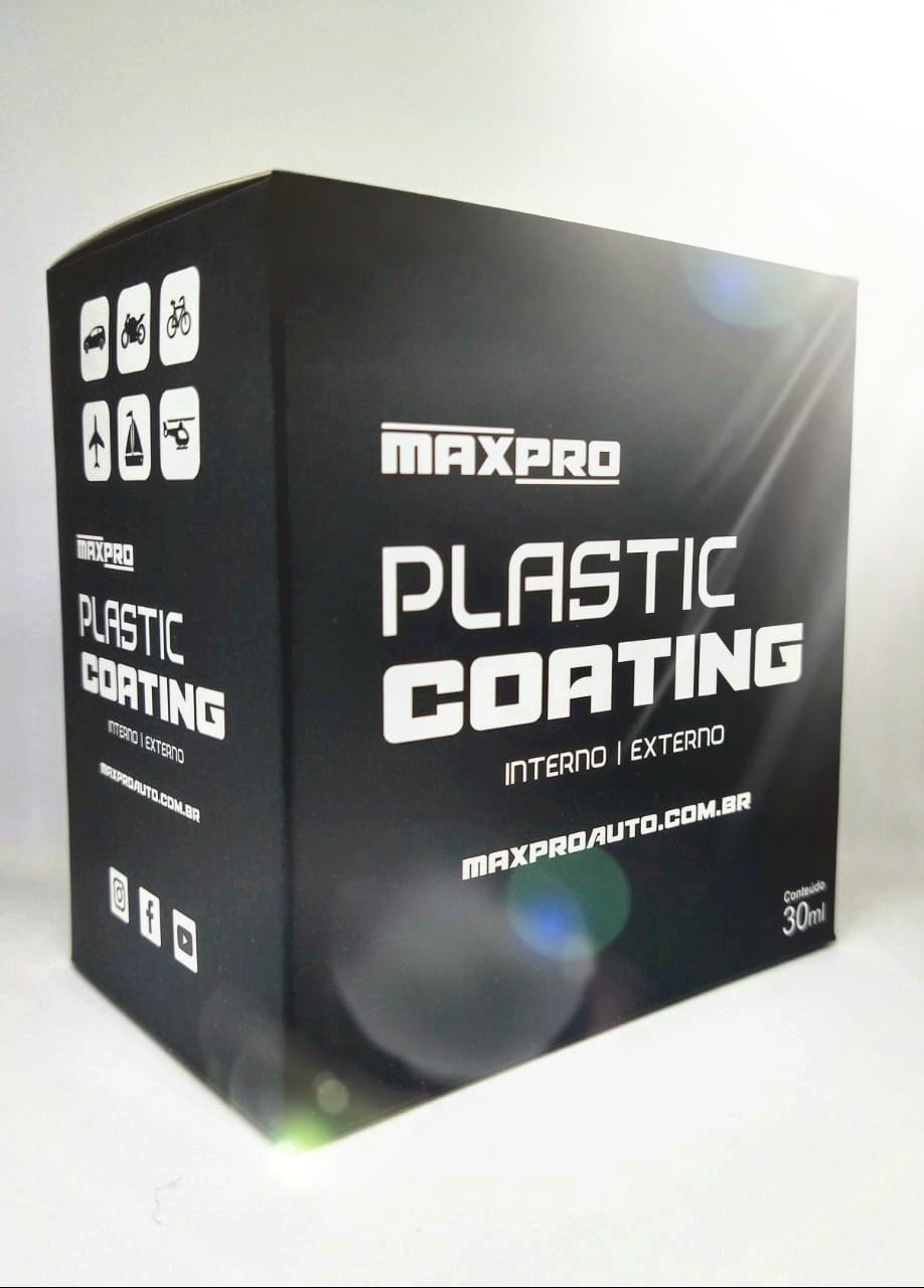 Maxpro Plastic Coating  Vitrificador de Plásticos Internos e Externos 30ml  - Loja Go Eco Wash