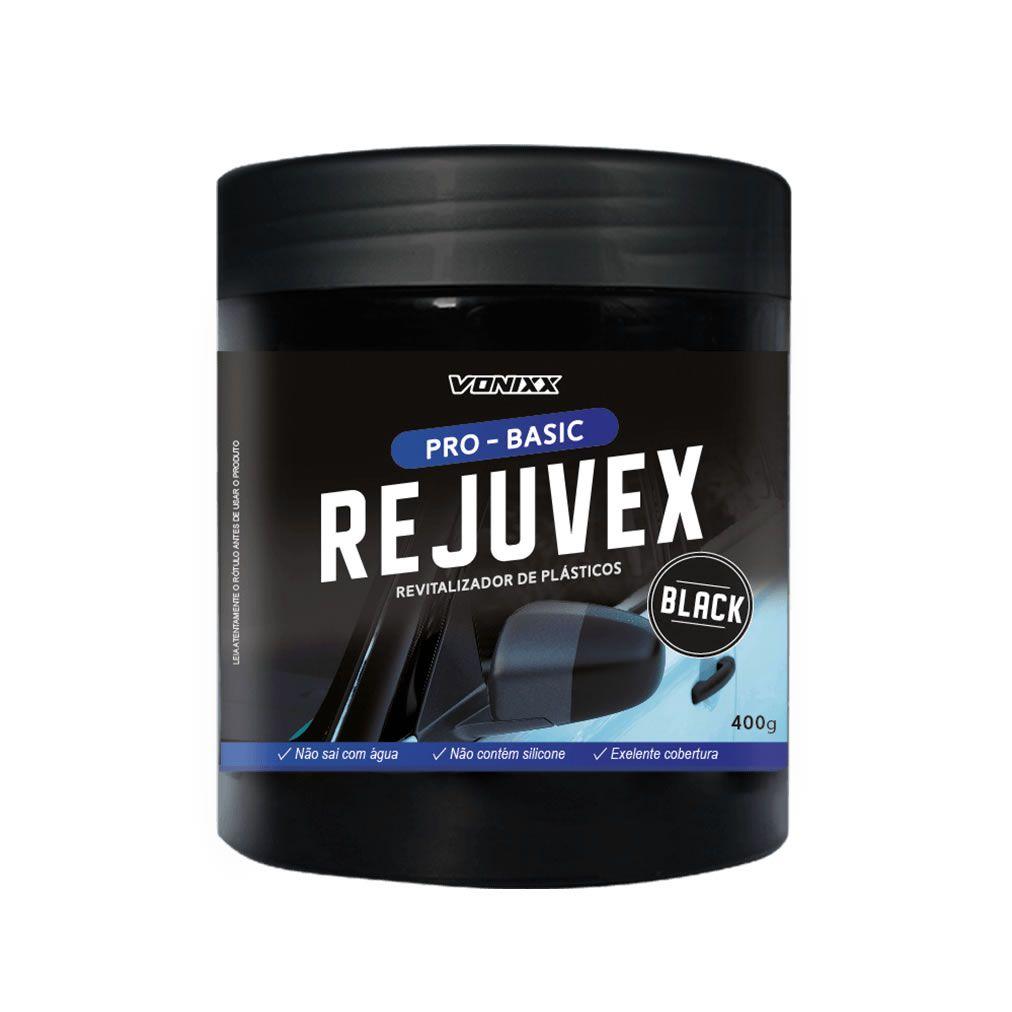 Vonixx Rejuvex BLACK Revitalizador de Plásticos 400gr   - Loja Go Eco Wash