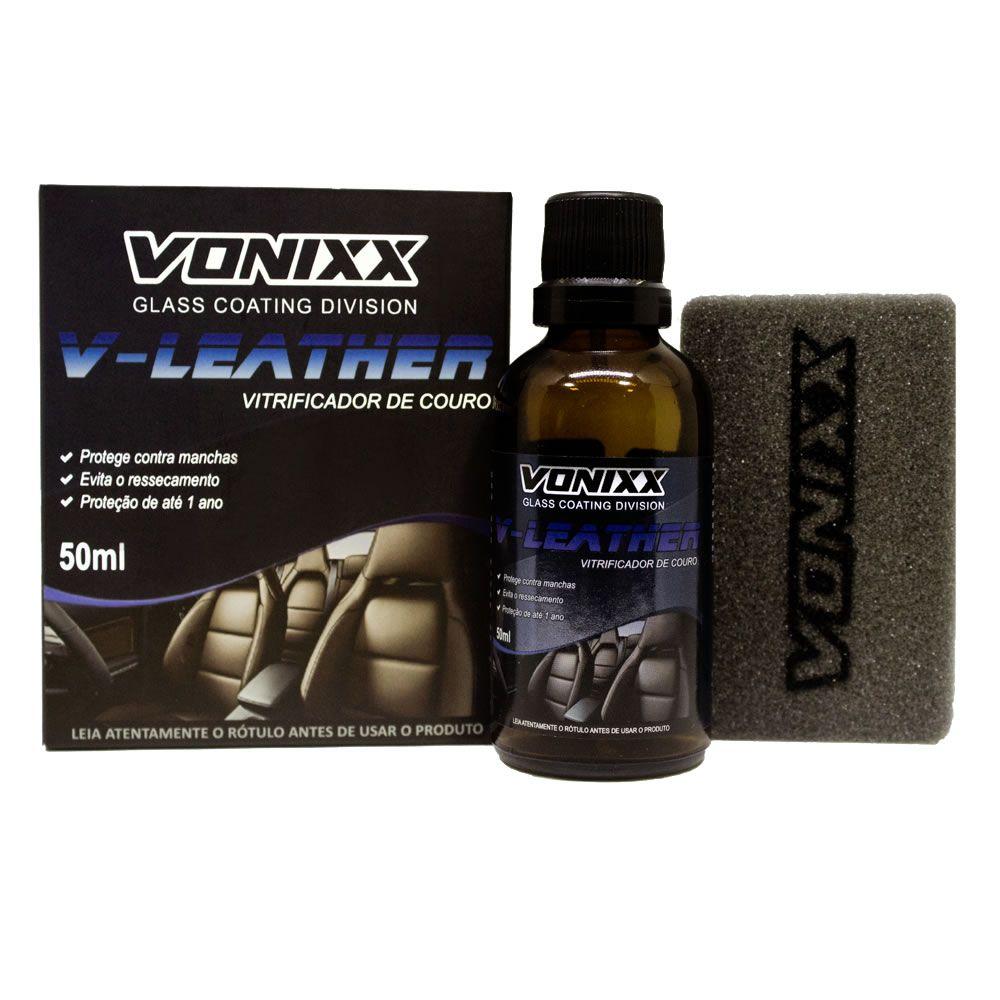 VONIXX VITRIFICADOR DE COURO V-LEATHER 50ML  - Loja Go Eco Wash