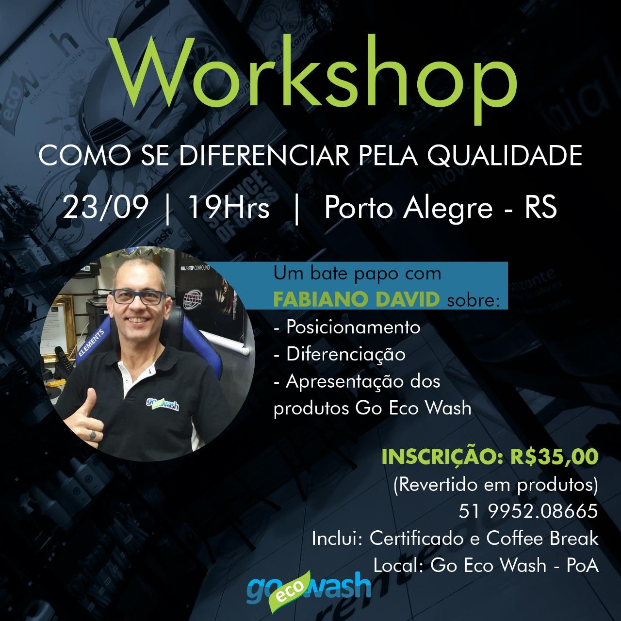 WORKSHOP COMO SE DIFERENCIAR PELA QUALIDADE + Linha Go Eco Wash  - Loja Go Eco Wash