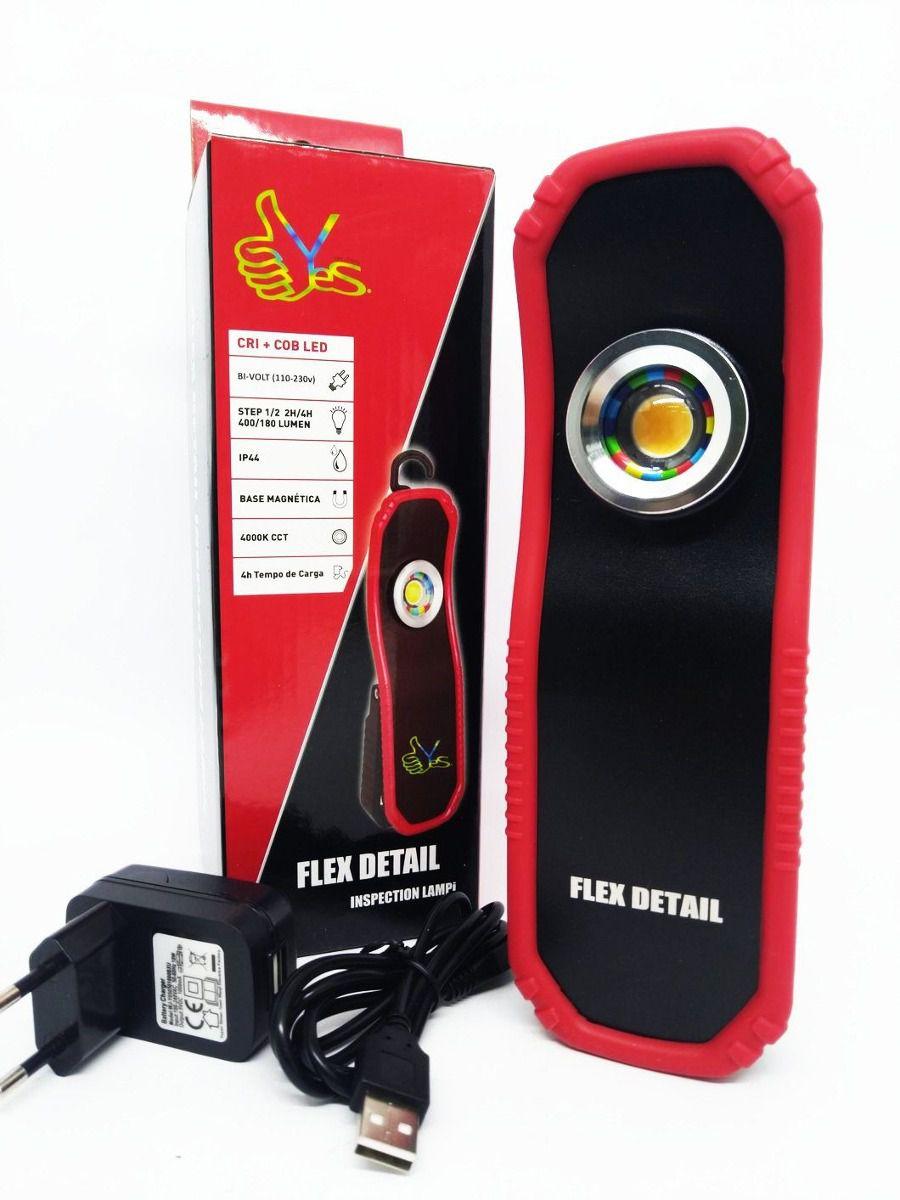 Yes Tools Lanterna Led Recarregável Flex Detail Bivolt   - Loja Go Eco Wash