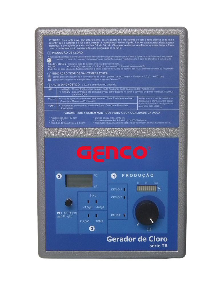 Gerador de Cloro Série TB - Modelo TB-120