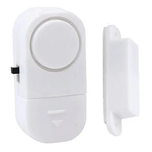 05 Alarmes Sonoros Contra Invasão Porta Janela Sem Fios + Bateria