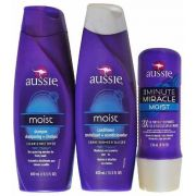 Kit Aussie Moist Shampoo + Condicionador + Mascara 3 Minutes