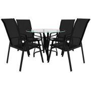 Jogo De Mesa 4 Cadeiras Riviera Alumínio Piscina,  Jardim