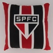 Almofada Quadrada São Paulo Vermelha e Preta