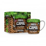 Caneca Porcelana 360ml Urban Brasfoot Meu Game Mine