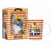 Caneca porcelana  - Pets gatinho