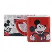 Caneca Quadrada Mickey e Minnie - Disney