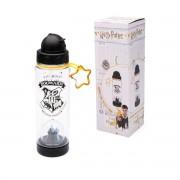Garrafa Com Canudo e Domo Harry Potter Hogwarts