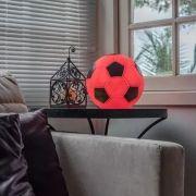 Luminária Abajur Bola De Futebol Vermelho e Preto Usare