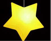 Luminária Pendente Estrela Natural