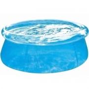 Piscina com Borda inflável Transparente 1400 litros