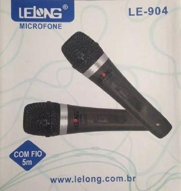 2 Microfone Lelong LE -904 C/ Fio