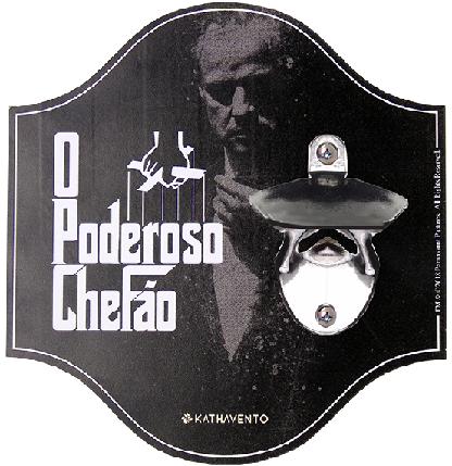 ABRIDOR DE GARRAFA DE PAREDE PODEROSO CHEFÃO