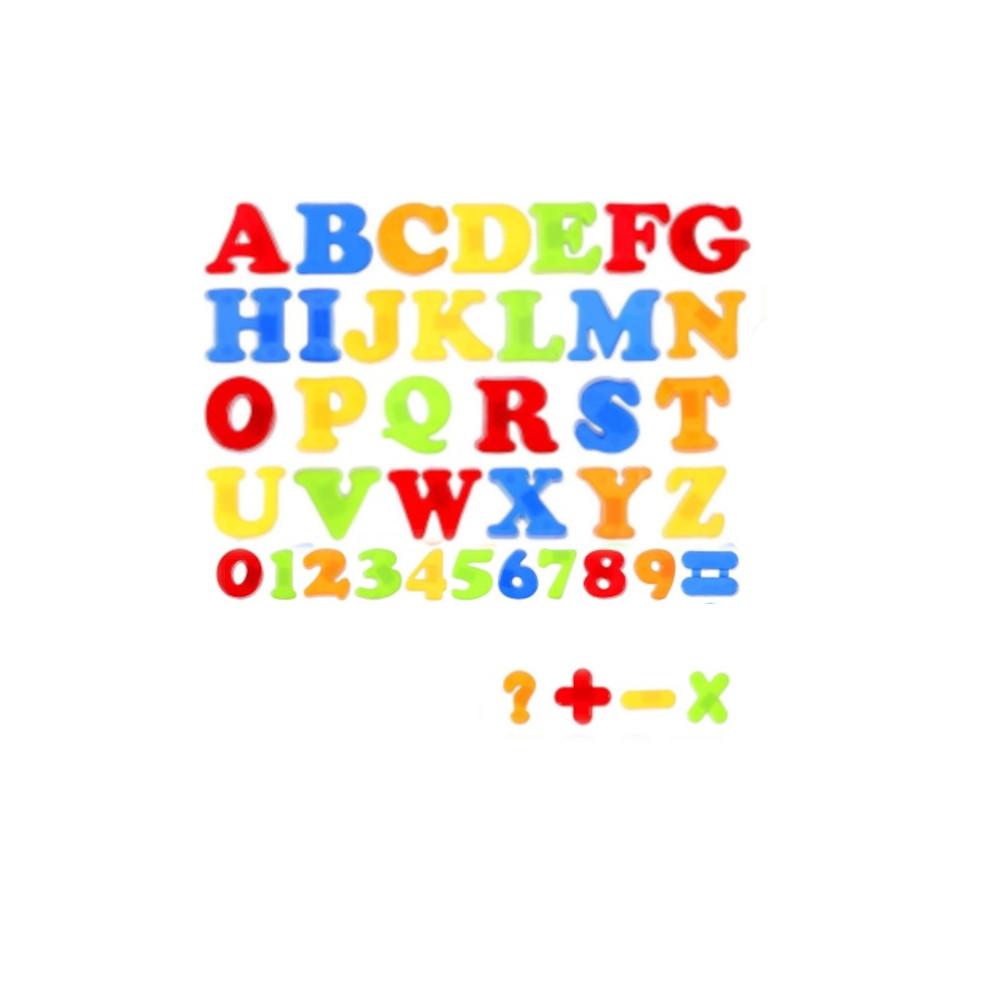 Alfabeto Letras E Números Magnéticos Brinquedo De Plástico