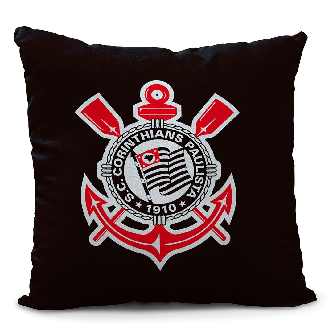 Almofada Corinthians Meu Coração é Preto E Branco
