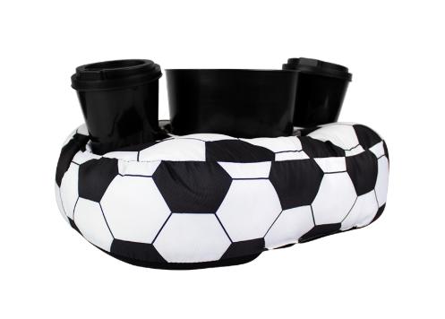 Almofada Porta Pipoca Bola de Futebol