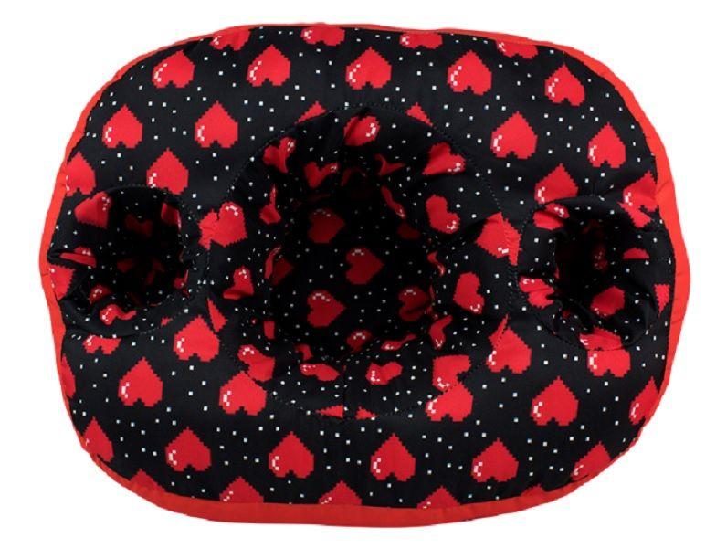 Almofada Porta Pipoca Coração Pixel