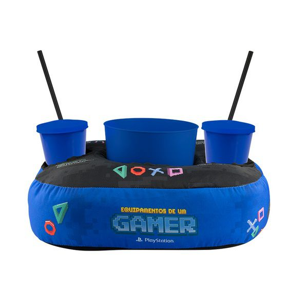 Almofada Porta Pipoca PlayStation Pixel