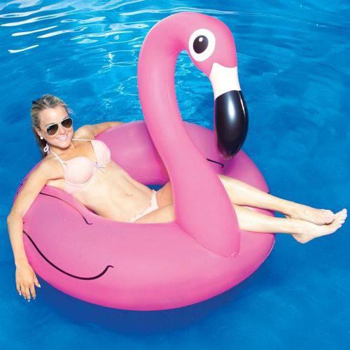 Boia Flamingo Gigante 120 Centímetros Inflável