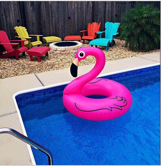 Boia Flamingo Gigante 90 Centímetros Inflável