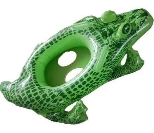 Boia Infantil Bebê Inflável Com Assento crocodilo 1.19m X 79cm