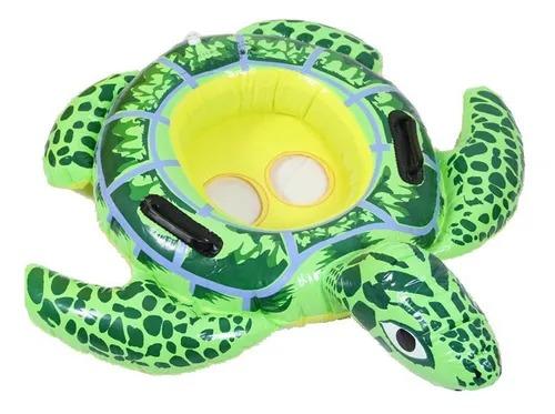 Boia Infantil Bebê Inflável Com Assento tartaruga 1.19m X 79cm