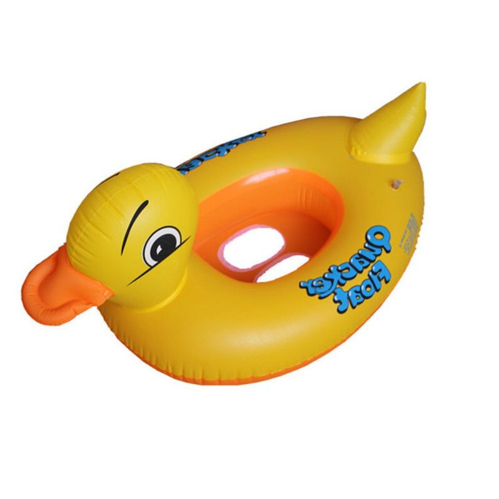 Boia Inflável Pato Modelo Bote Infantil Para Bebê Piscina 12cm x 47cm x 64cm