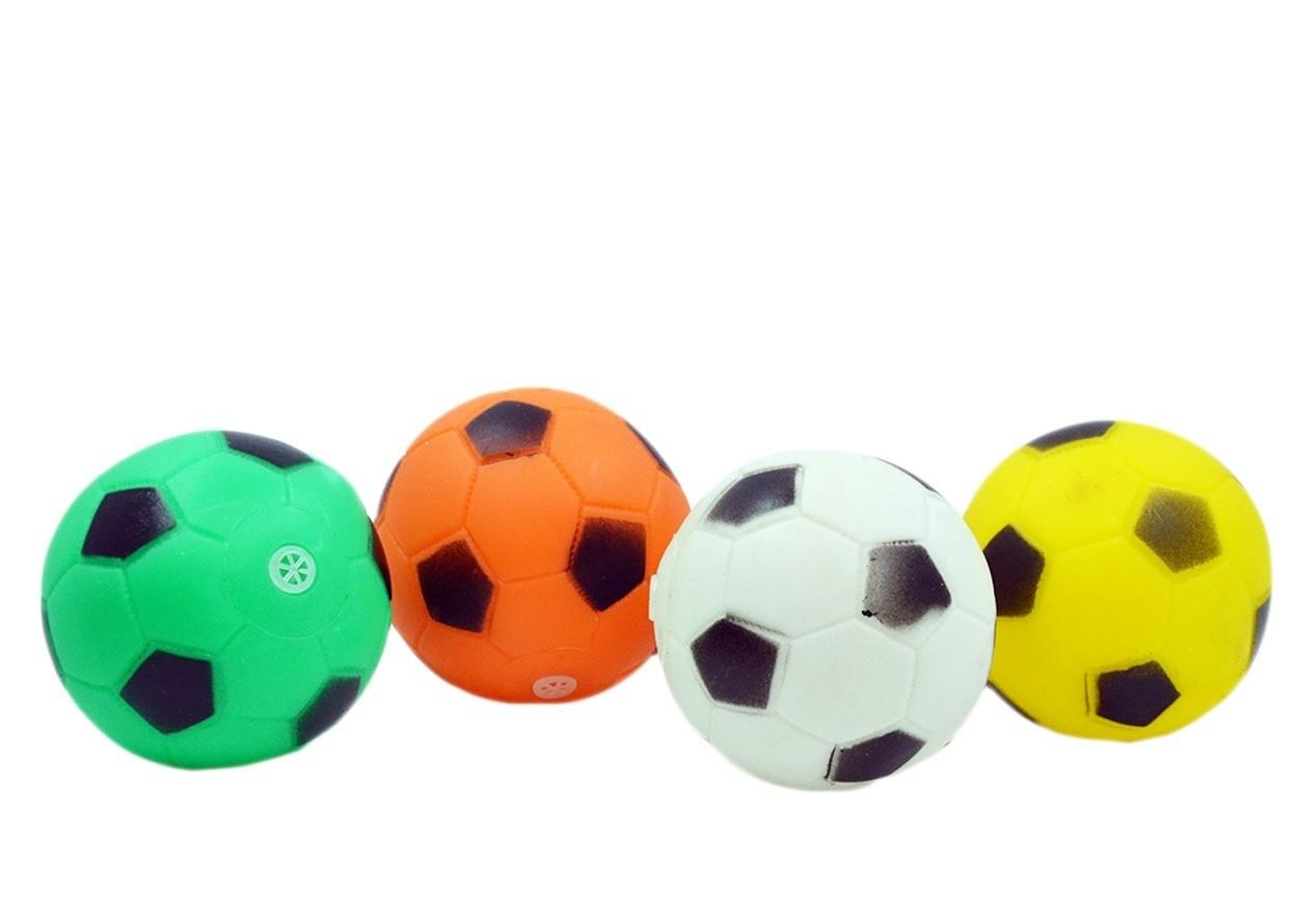 Bola Bolinha De Borracha Para Cachorro Modelo Futebol kit com 10