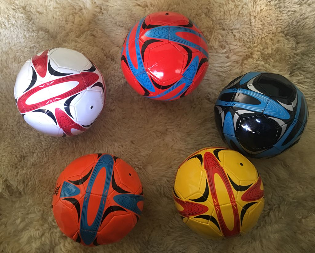 KIT 5 Bolas de Capotão Atacado Futebol e Society