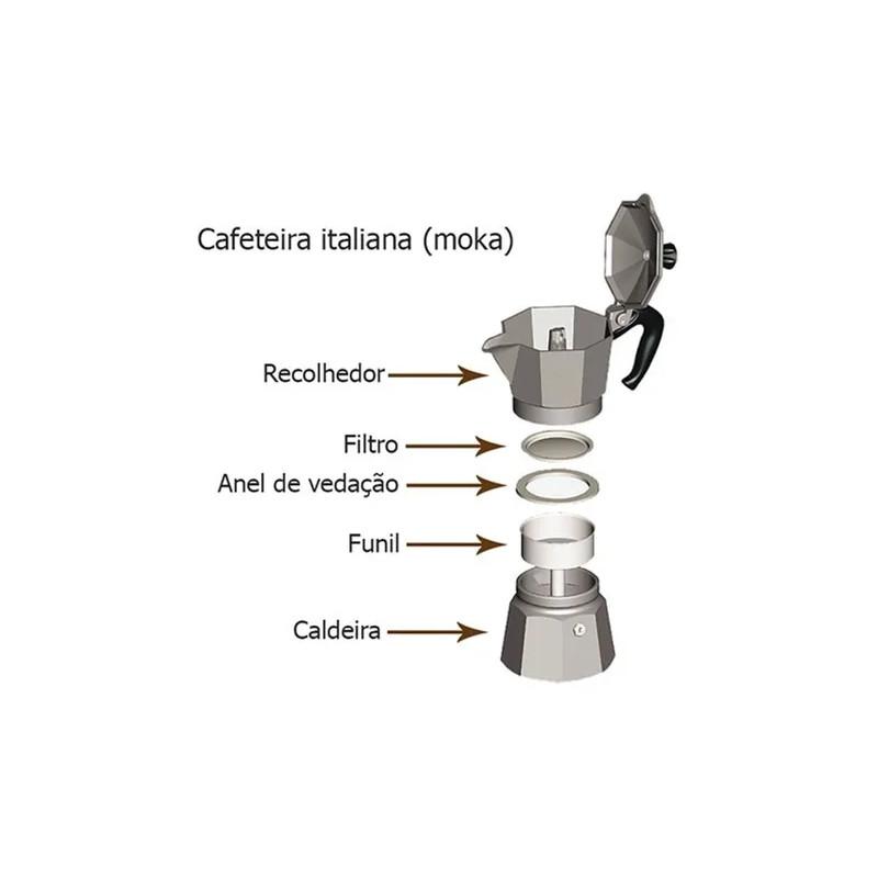 Cafeteira Italiana Moka Expresso Alumínio Média