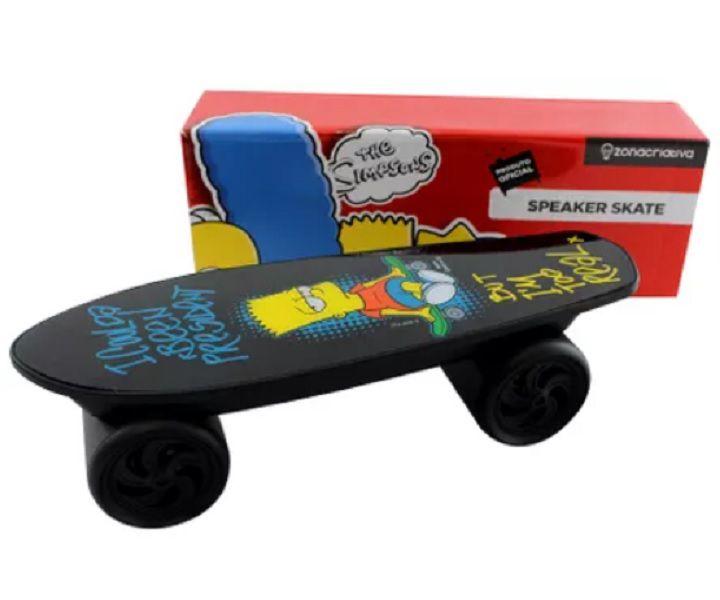 Caixa de Som Speaker Skate Indução Bart Simpson