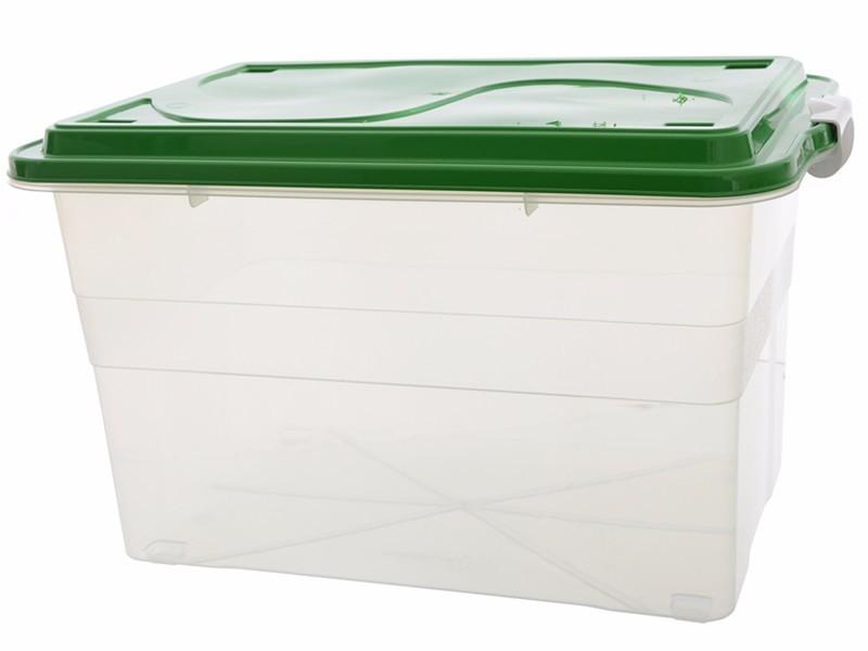 Caixa Plástica Organiz 70l Transparente Cod.905