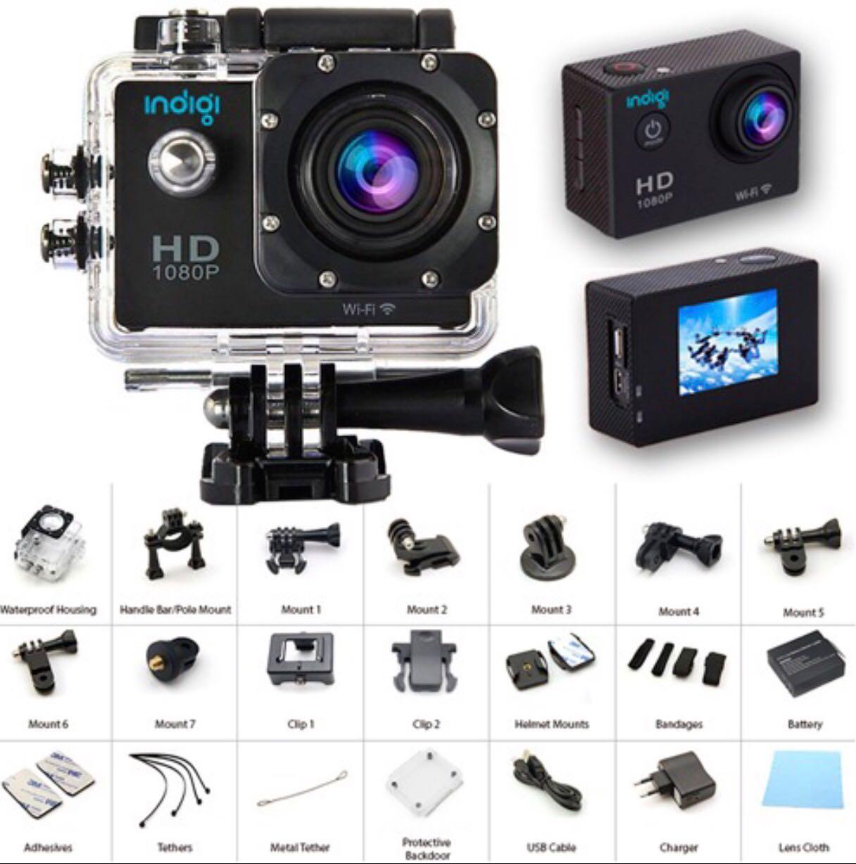 Câmera Esportiva Sports HD Dv 12mp Filmagem Full HD 30m À Prova Dágua