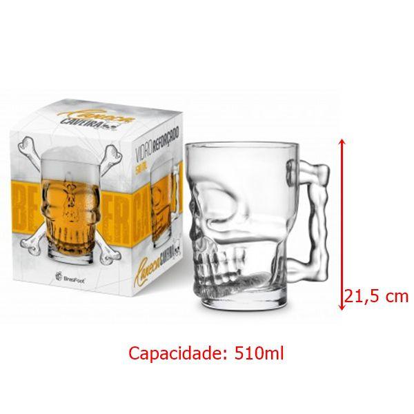 Caneca Chopp 510ml - Caveira