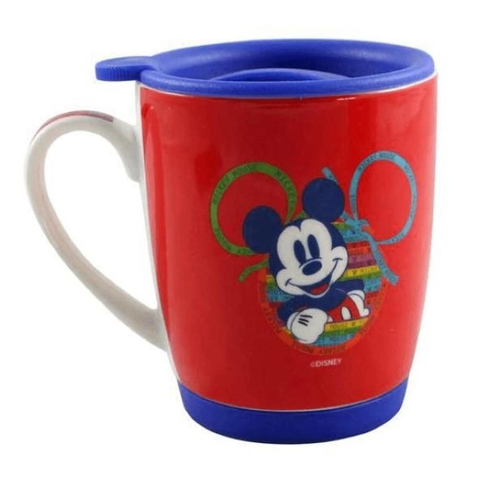 Caneca com tampa Mickey Mouse 90 Anos - Oficial