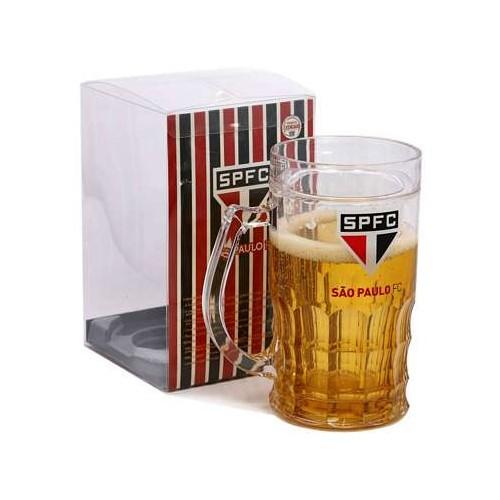 Caneca de Cerveja São Paulo FC com revestimento líquido - Oficial