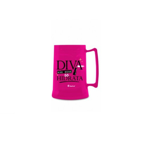 Caneca De Gel Congelante Rosa Uso Exclusivo Diva 300ML Brasfoot