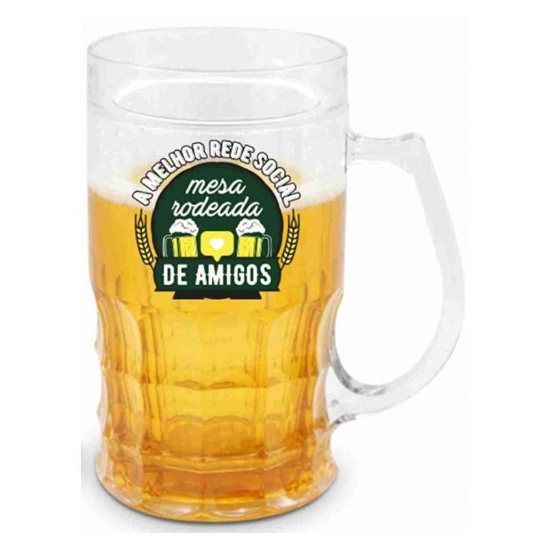 Caneca Gel Cerveja Frases de Boteco - A Melhor Rede Social