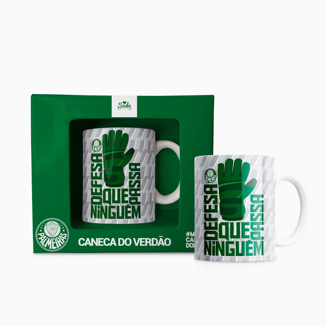 Caneca Palmeiras Defesa Que Ninguém Passa 330 ml