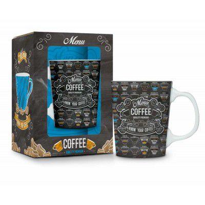 Caneca porcelana - menu coffee