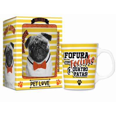 Caneca porcelana - Pets pug