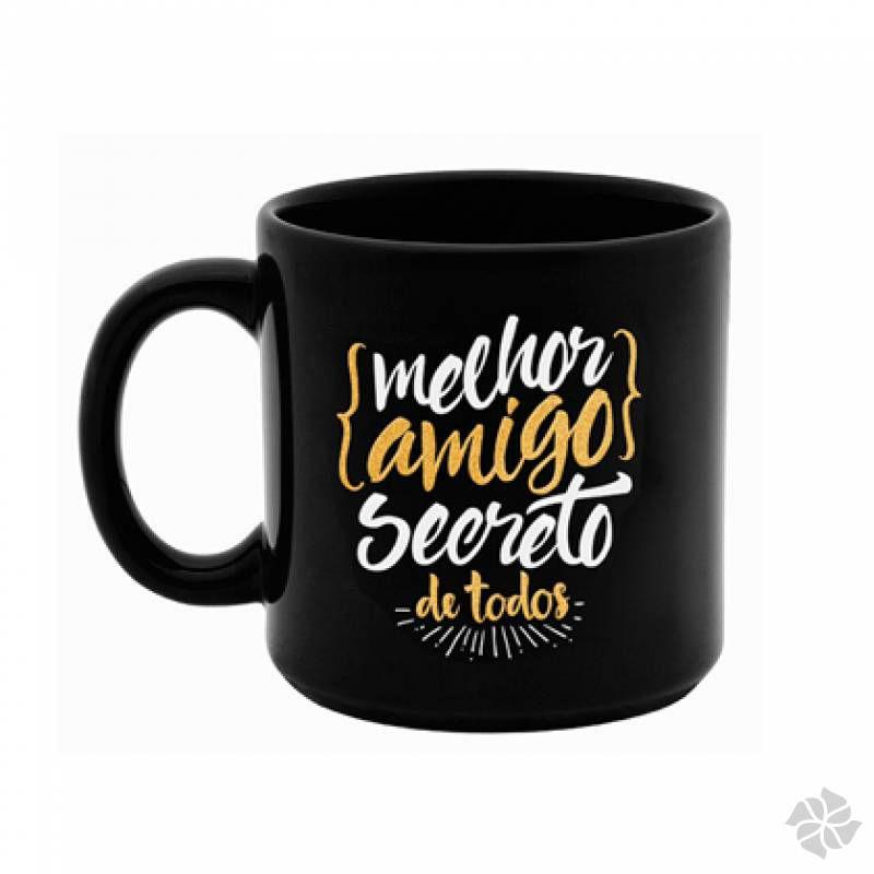 CANECA PRETA AMIGO SECRETO