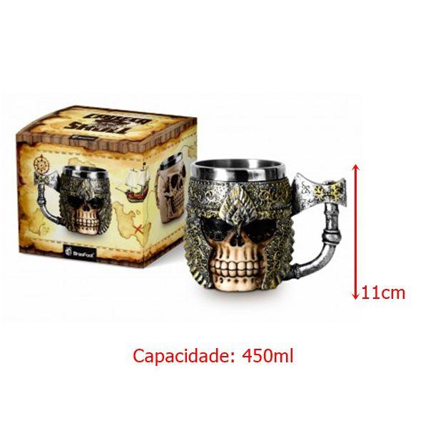 Caneca Resina - Caveira Viking
