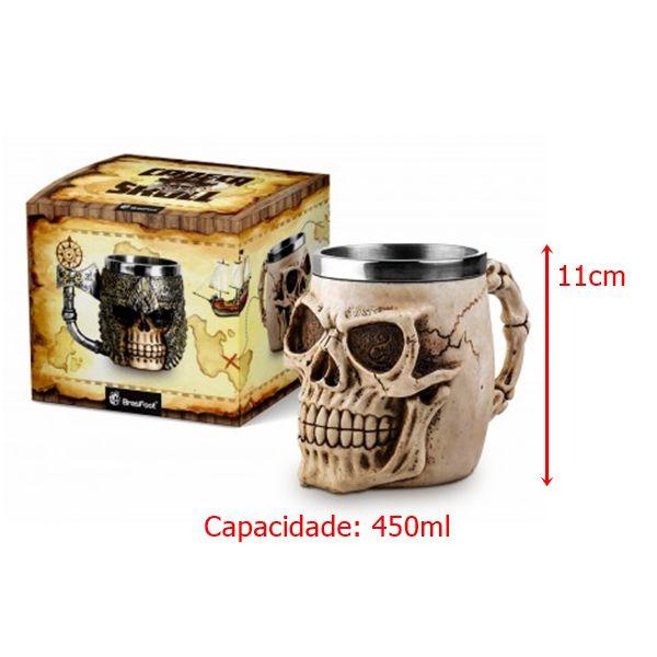 Caneca Resina - Skull Head