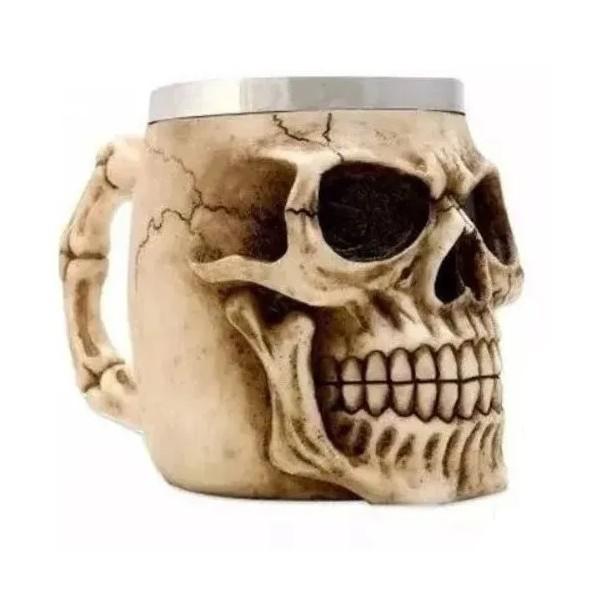 Caneca Resina Skull Head