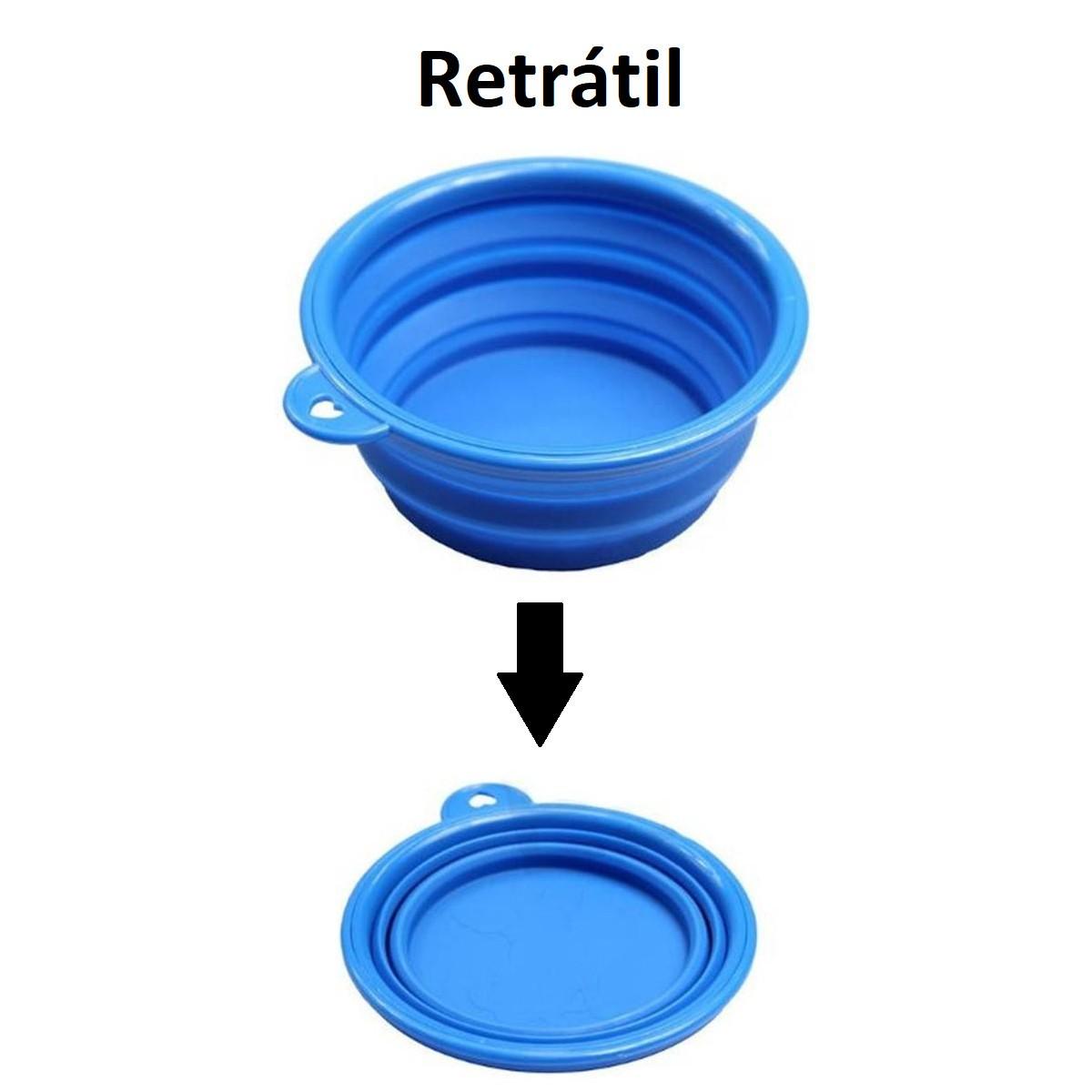 Comedouro Retrátil de Plástico para Animais de Estimação