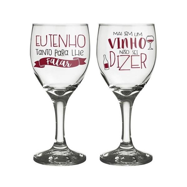 Conjunto 2 Taças de Vinho Para Te Falar 250 ML
